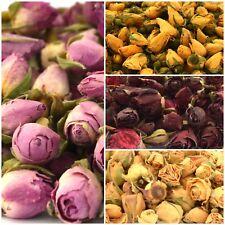 Rose Bourgeons, pétales de rose, fleurs séchées Rose Rouge Jaune Ivoire Craft Savon Potpourri