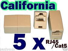 Lot 5 RJ45 CAT5 CAT5E Network Ethernet Connector Adapter Coupler Joiner 8P8C