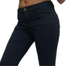 Jeans donna aderenti vita bassa pantaloni blu denim Jeans leggings