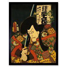 PAINTING PORTRAIT ACTOR UTAGAWA KUNIYOSHI THEATRE STAGE JAPAN POSTER LV2682