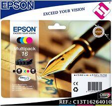 PACK TINTA T1626 T16 ORIGINAL PARA IMPRESORAS EPSON CARTUCHO 4 COLORES GENUINE