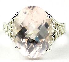 Rose Quartz, 925 Sterling Silver Ladies Ring, SR049-Handmade