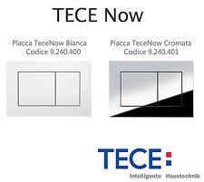 TECE Now Placca di comando doppio pulsante WC BIANCA 9.240.400 CROMATA 9.240.401