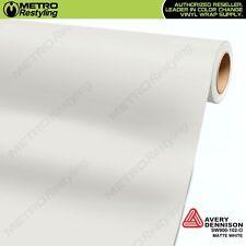 Avery Supreme MATTE WHITE Vinyl Vehicle Car Wrap Film Sheet Roll SW900-102-O
