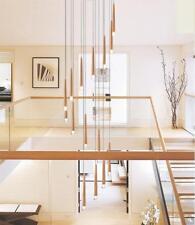Customized Led Wooden chandelier duplex villa lobby hall stair ceiling lighting