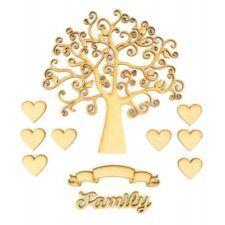 MDF Family Tree Kit Set, HEARTS & Family Kit, Box-Frame-TREE-Kit - Fits-Ribba-FRAM