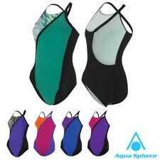 Aqua Sphere KIO Womens Swimming Costume Ladies Girls Swim Suit Swimwear All Size