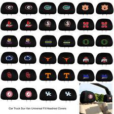Brand New Team ProMark NCAA Pick Your Team HeadRest Covers For Car Truck Suv Van