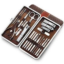 21pcs Portable Manicure Kit Professional Nail Clippers Kit Pedicure Care Tools