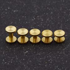 Schraubnieten Gürtelschrauben Buchschrauben DIY Basteln Gold Messing Werkzeug 5x