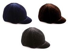 Shires SKULL CAP Velluto Cappello Copertura di seta per equitazione caschi di tutte le taglie