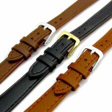 Comfortable Flexible Leather Watch Band Buffalo grain 8mm - 14mm