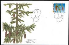 Finland FDC 2002 European Spruce (picea abies) Mint
