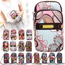 Women Colorful Pattern Mini Shoulder Crossbody Cell Phone Purse Wristlet Handbag