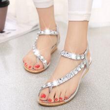 Summer Womens Rhinestone Slingbacks Roma Sandals Flip Flops Casual Shoes 4.5-9.5