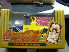 Coca Cola ERTL Die Cast Metal Bank  MIB 1993 Yellow