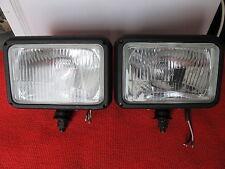 2x Zusatzscheinwerfer NEU H4 Schneepflug Auf-und Abblendlicht passend f Multicar