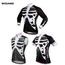 Mens Cycling Jersey Mountain Bike Pro MTB Shirt Bicycle Riding Racing Skeleton