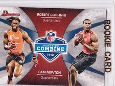 RG3 Robert Griffin III & CAM NEWTON Dual RARE INSERT RC Card FOOTBALL ROOKIE!