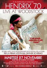 HENDRIX 70 Live at Woodstock Locandina 35x70cm I° Ed ITA Originale