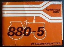 Fiat Schlepper 880-5  + 880-5 DT Anleitung