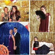 Metal Foil Fringe Tassel Curtain Birthday Wedding Party Ball Room Backdrop Decor