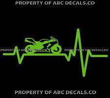 VRS HEART BEAT LINE BIKE MOTORCYCLE sportbike sport Speed CUSTOM CAR VINYL DECAL