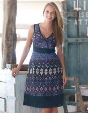 Bravissimo Ladies Aztec Sun Dress in Blue Mix Color 100%COTTON RRP 59.00 (50)
