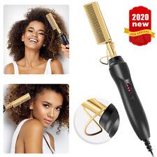 Fer à lisser fers plats lissage brosse à cheveux chaud peigne de chauffage cheveux raides ~