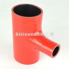 Silicone Hose Straight T Piece Red PICK SIZE Silicone Shop (Black Core)