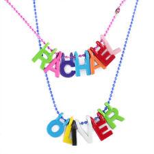 Nombre Personalizado Collar, Colorido Letras, Rosa Azul Cadena Para Niños Niños