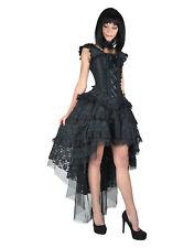 BURLESKA GOTHIC OPHELIE VAMPIRE WEDDING PROM VINTAGE BLACK TAFFETA CORSET DRESS