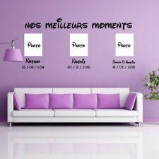 Sticker Texte Nos meilleurs moments et 3 dates + prénoms