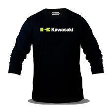 ebd6d5c04 Genuine Official Kawasaki Bike Superbike Motocross Black Long Sleeve Tee T- Shirt