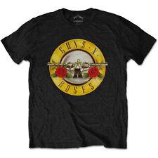 Guns N Roses T Shirt Classic Logo Bullet Official Black Mens Tee Rock Merch NEW