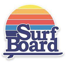 2 X 10cm Retrò SURF BOARD in Vinile Adesivo Decalcomania Notebook auto viaggio Surf COOL # 9115
