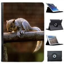 Grey Squirrel Folio Wallet Leather Case For iPad Air & Air 2