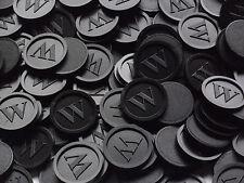 Wertmarken, Pfandmarken, Getränkemarken, -W- Mengen wählbar | Farbe: Schwarz