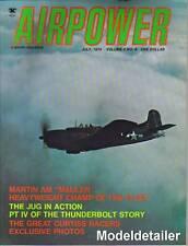 Airpower Magazine V4 N4 Martin AM Mauler Thunderbolt Jug Curtiss Racers Fighter