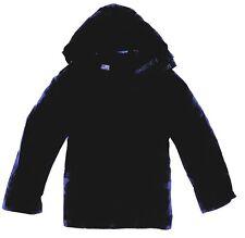 100% WATERPROOF WINDPROOF JACKET Mens S-3XL zip up hooded kagool plain navy Blue