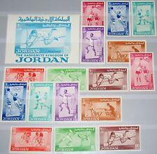 Jordan GIORDANIA 1964 437-44 A-B blocco 11 446-53 Olympics Tokyo SPORT SOCCER MNH