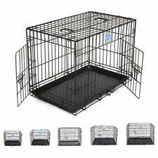 """Cage pour chien de transport pliable en métal avec 24"""" - 48"""""""