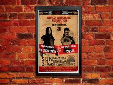 Undertaker Vs Diesel Wrestlemania 12 Vintage Wrestling Poster