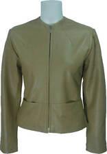 Womens Short Stone - Real Leather Fashion Jacket #C7