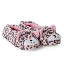 Ballerina Hausschuhe Damen Plüsch Puschen pink Schlappen Tier Schluppen Mädchen