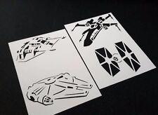 4 un. Star Wars Estilo X Ala Tie Fighter Halcón Milenario Snowspeeder Stencils
