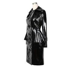 Lackina-Lack Mantel mit Volant schwarz ,Gr S- 4 XL