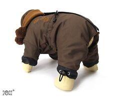 Abrigo de invierno con bufanda Brown Patas Para Perro Hombre y hembras