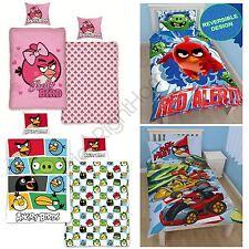 Angry Birds Funda nórdica individual conjuntos de ropa de Cama Niños Chicos Chicas Oficial Gratis P + P