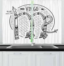 "Zodiac Virgo Sign Kitchen Curtains 2 Panel Set Window Drapes 55"" X 39"""